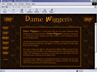 Dame Wiggens' first homepage